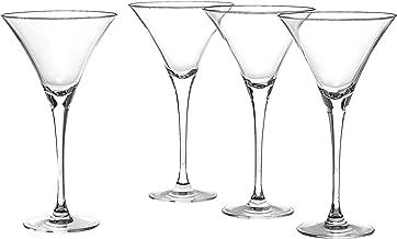 Lenox Tuscany Classics Martini Glasses, Set of 4, Black - 6115711