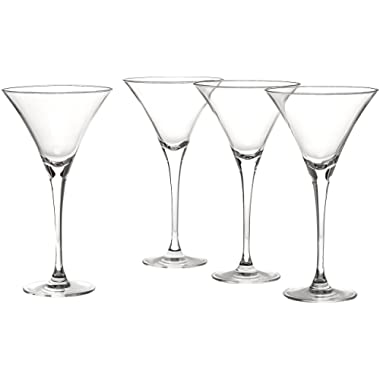 Lenox Tuscany Classics 4-piece Martini Glass Set, 3.35 LB, Clear