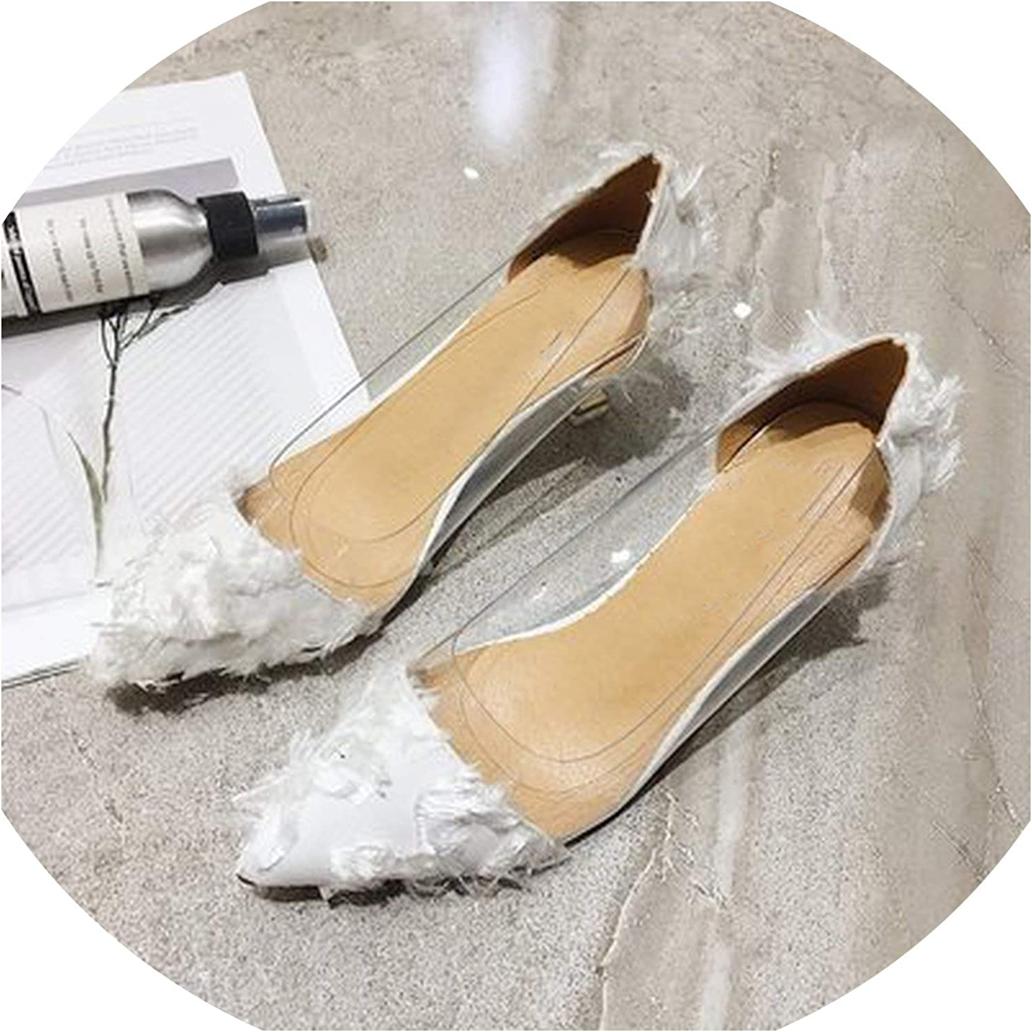 Small Fresh High Heels Transparent Single shoes Wild Pointed Shallow Mouth Stiletto High Heel Single shoes