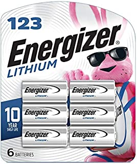Energizer 123 Lithium Batteries, 3V CR123A Lithium Photo Batteries (6 Battery Count)