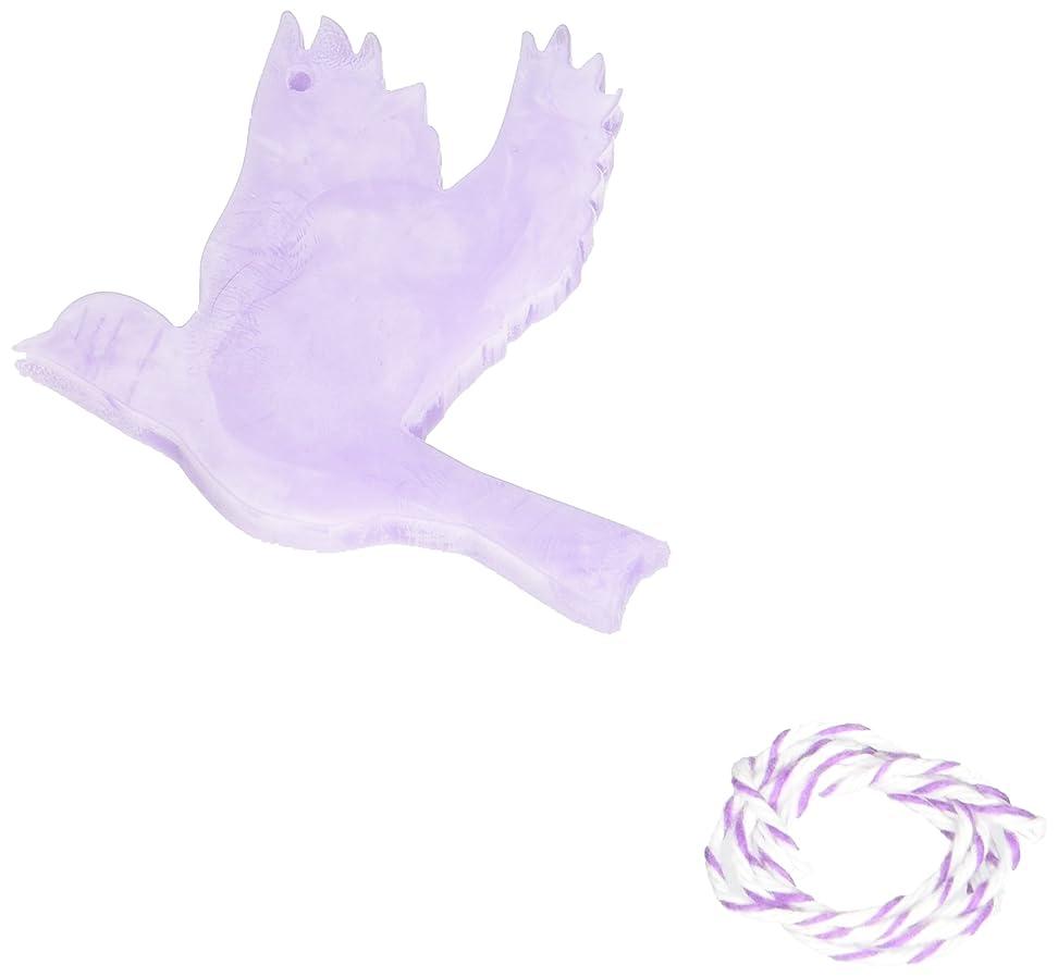 ナインへ癌精通したGRASSE TOKYO AROMATICWAXチャーム「ハト」(PU) ラベンダー アロマティックワックス グラーストウキョウ