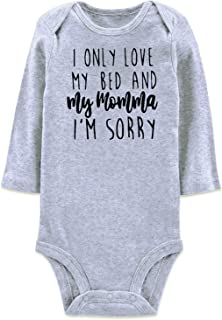Best i only love my bed and my mama onesie Reviews
