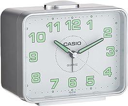 Casio TQ-218-8DF Analog Alarm Clock, Grey