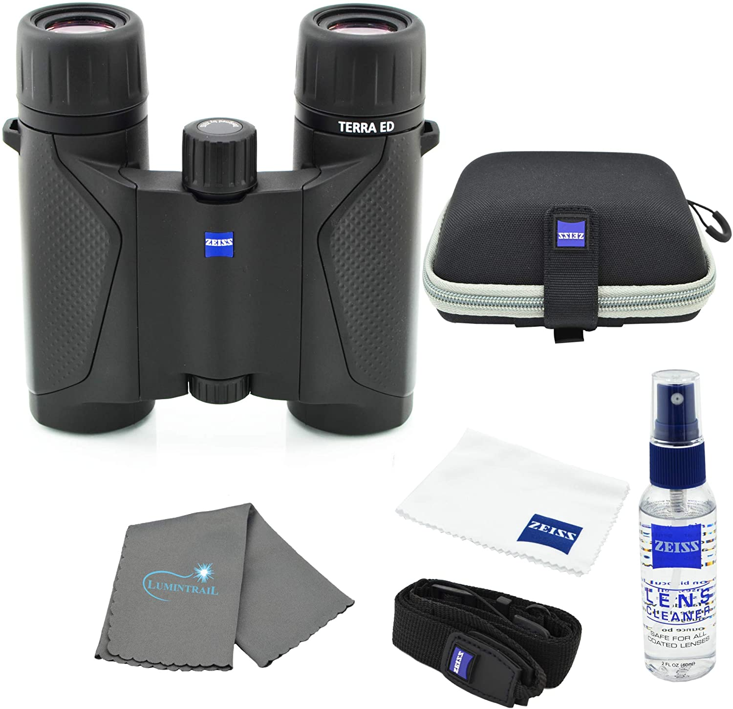 Zeiss 8x25 Terra ED Compact Pocket Z Bundle Binocular with Al sold out. Cheap mail order sales Black