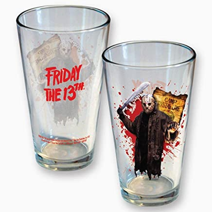 2fa30a55b6d ICUP 8362 Friday The 13th Jason Camp Crystal Lake Pint Glass
