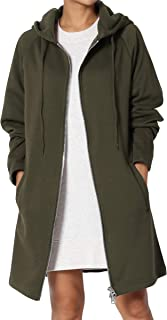 4b8e440ccfb TheMogan S~3X Basic Loose Fit Pocket Pullover Hoodie Long Tunic Sweatshirts