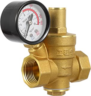 VICASKY Regulador de Pressão De Água de Da Válvula Com Manômetro DN20 Válvula Reguladora De Pressão de Água para Uso Domés...