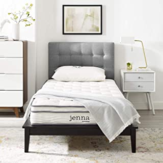"""Modway Jenna 8"""" Narrow Twin Innerspring Mattress – Top Quality Quilted Pillow Top.."""