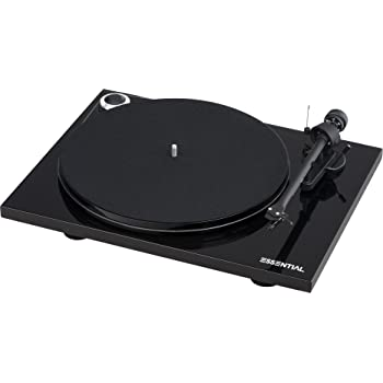 Pro-Ject Essential III Turntable with Built in Phono Preamplifier (Black)