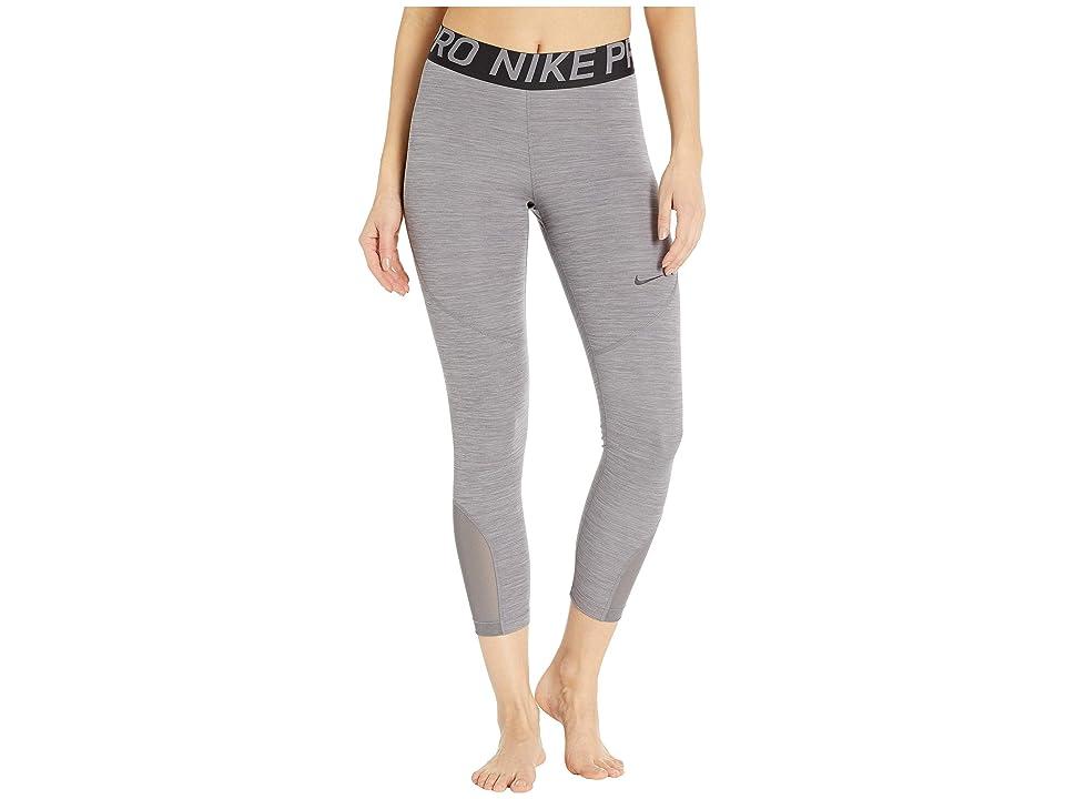 Nike Pro Crop Tights (Gunsmoke/Heather/Gunsmoke/Black) Women