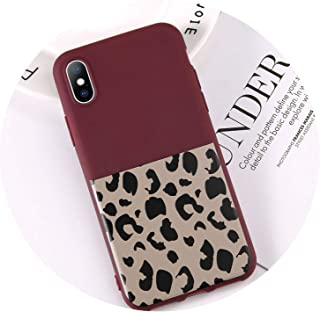 tthappy76 Fashion Leopard Print Soft Phone Case for iPhone 6 6S 7 8 Plus X Xs Max Xr 5 5S Se Mobile Shell Capa Silicone Back Cover,Flattened,for iPhone Xs