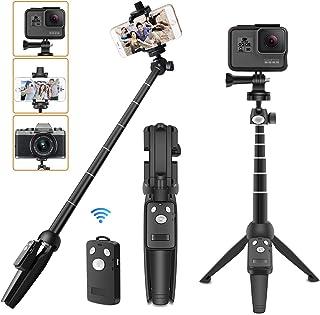 自撮り棒 ミニ三脚 セルカ棒 アクションカメラ gopro三脚 スマホ 三脚 7段階伸縮 ビデオカメラ ボール雲台 360°回転 iPhone Android Gopro hero7 hero6 hero5 muson など サポート