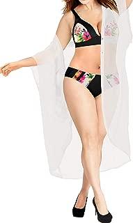 Women's Open Front Kimono Cardigan Swim Beach Cover Ups Solid Plain