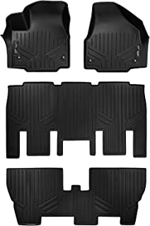 MAXLINER Floor Mats 3 Row Liner Set Black for 2017-2018 Chrysler Pacifica 8 Passenger Model Only (No Hybrid Models)