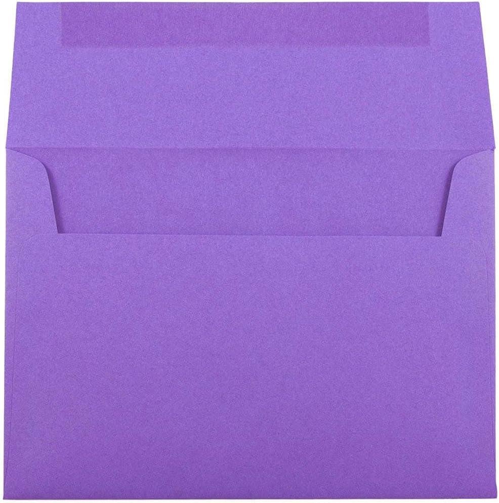 JAM PAPER Enveloppes De Couleur Monarque 98,4 x 190,5 mm 50//Paquet Violet Recycl/é