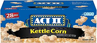 ACT II Kettle Corn Microwave Bags (28 ct.)- Pack of 2 - (Original from manufacturer - Bulk Discount available)