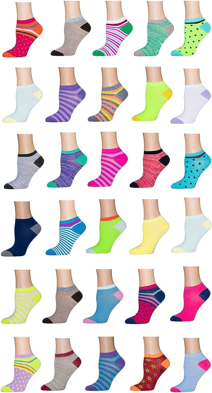 Multi Sport Ladies Low Cut Flat Knit Fashion Socks (Pack of 10)Asstortment   12
