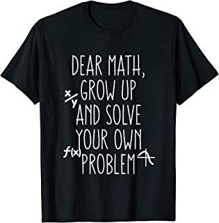 Funny Math Shirt for Teen Girls Tween Women Teacher College