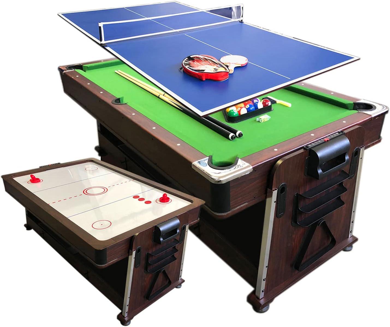 Pooltafel met Airhockey, Tafeltennis en Eettafel