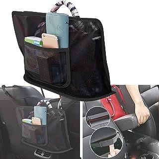 Car Seat Storage Net Bag, Car Net Pocket Handbag Holder, Net Mesh Bag Storage Bag, Handbag File Bag, Mobile Phone Valuable...