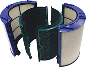 Dyson Air Purifier Replacement (HP04, TP04, DP04,) 360° Glass HEPA and Activated Carbon Filter, 9 x 9 x 9.5 inches, Purple...