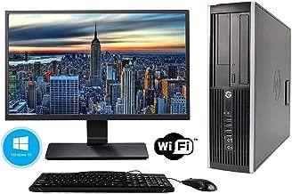HP Elite 6200 SFF Desktop - Intel Core i5 2400 3.2Ghz 16GB DDR3 RAM, 480GB SSD and Windows 10 Professional - WiFi Ready 22 Inch Monitor (Renewed)