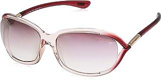 Tom Ford Women's Sunglasses Rectangular FT0008 Pink/Rose Gold