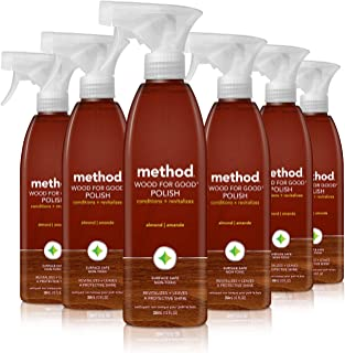 Method Wood for Good Polish, Wood Cleaner, Almond, 12 Ounce (Pack 6)