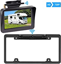 Digital Wireless Backup Camera &5'' Monitor HD 720P Kit for Cars, RVs,Trucks,Pickups, Campers IP69 Waterproof Rear/Front View Switchable Driving Monitoring/Reversing Use Guide Lines On/Off