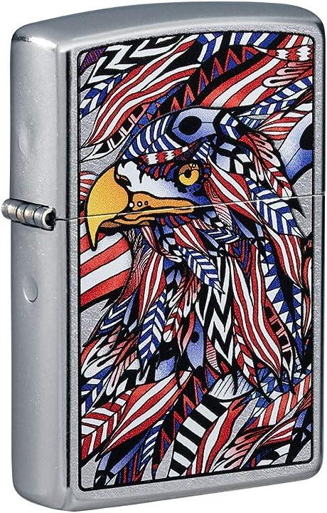 accendino zippo 49251 patriotic usa american eagle antivento ricaricabile lighter b08924tdnw