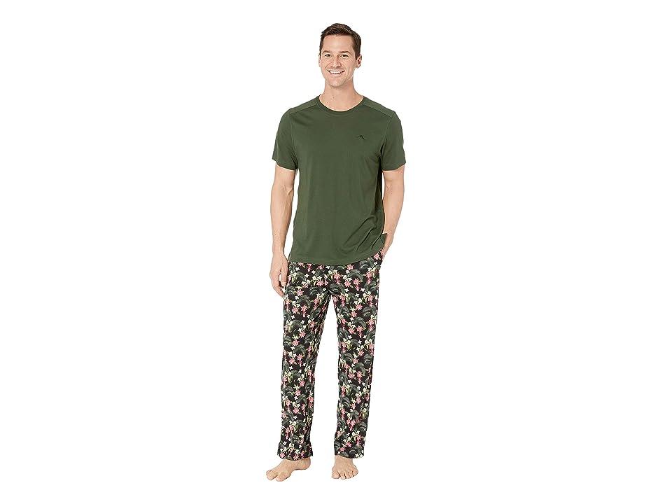 Tommy Bahama Pajama Set (Floral Leaves) Men