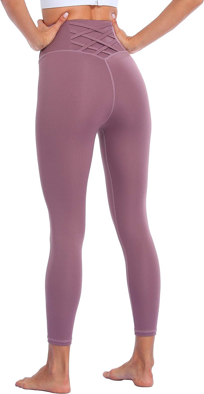 WE CUFFLLE Womens High Waist Leggings Yoga Pants Waisted Bandage Workout Tummy Control Leggings 4 Way Stretch Legging