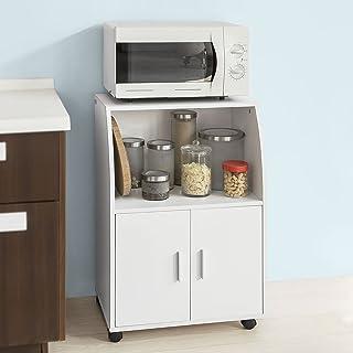 SoBuy®Aparador auxiliar bajo de cocina para microondascon 2 puertas y 1 estanteL59 cm x P40 cm x H92 cmFRG241-WES