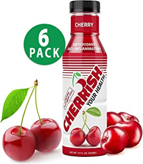 CHERRISH Tart Cherry Juice Original 12oz - 6 Pack Case - Extreme Hydration Improved Sleep Quality All Natural Sugar Sore Muscle Recovery Anti-inflammatory Sports Drink Healthy Snack (Cherry)