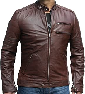 Classyak Fashion Genuine Leather Jacket Brown, Supreme Quality, Xs-5xl