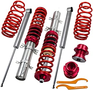 Coilovers Suspension for VW Golf MK4 1998-2003 / Jetta MK4 1998-2004 / Audi A3 MK1 / New Beetle 1997-2010 - Red