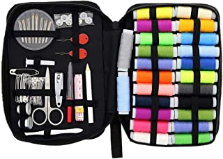 Dolloress Sewing Kit Pro Repair Set Including 24x Thread Spools+1 Set Sewing Niddles with Carring Bag Sowing Accessories E...