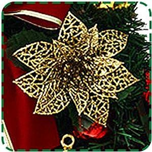 ARAUS-Grandes Guirlandes Fleurs Artificielles Couronne de Noël XMas à l'intérieur et l'extérieur idéal Déco Noël pour magasins,bureaux,sapin de Noël ou DIY