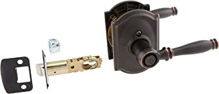 Schlage Lock Company F40BIR716CAM Aged Bronze Privacy Birmingham Privacy Door Lever Set with The Decorative Camelot Rosettes