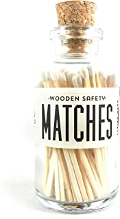 White Tip Colored Matches. Match Sticks Mini Decorative Glass Bottle. Farmhouse Home Decor. Unique Gifts for her. Best Seller Most Popular Item