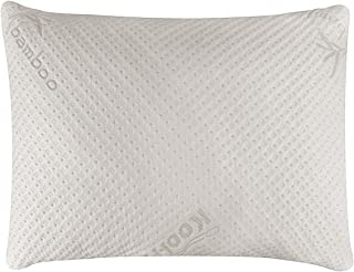 Snuggle-Pedic Ultra-Luxury Bamboo Shredded Memory Foam Pillow Combination With Adjustable Fit and Zipper Removable Kool-Flow Breathable Cooling Hypoallergenic Pillow Cover (Standard)