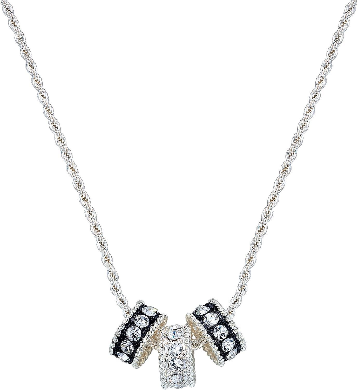 Montana Silversmith Crystal Shine Three Ring Necklace  NC1032
