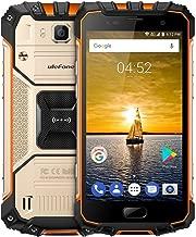 Ulefone Armor 2 5.0 Inch Android 7.0 Unlocked Smartphone - Waterproof Shockproof Dustproof MT6753 64Bit Octa core 1.3GHz 6GB RAM + 64GB ROM 13MP / 5MP Camera 4G Dual SIM Mobile Phone Gold