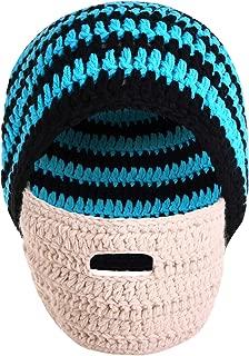 Bess Bridal Crochet Beard Hat Mask Ski Cap Unisex Mustache Warmer Winter Ski Beanies
