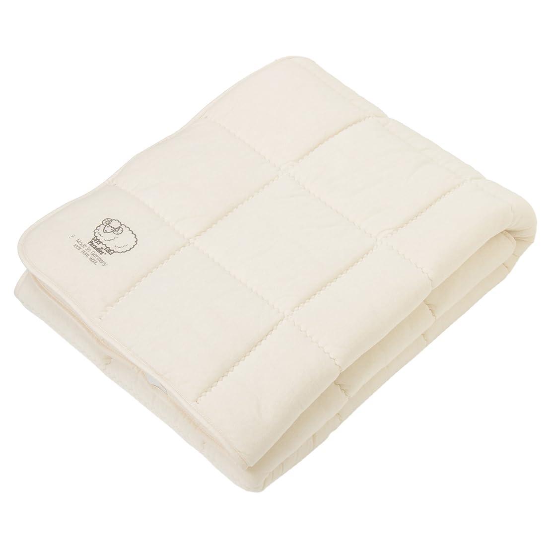 署名クレデンシャル型西川(Nishikawa) ベッドパッド ベージュ シングル ウール さわやか 吸湿 バーデンバーデン ドイツ製 CM07209022BE