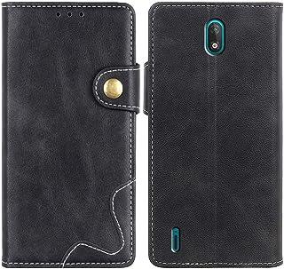 MOONCASE Case for Nokia C2, Premium PU Leather Cover Wallet Pouch Flip Case Card Slots Magnetic Closure Mobile Phone Prote...