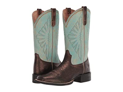 Ariat Round Up Rio (Dark Bronze/Jade) Cowboy Boots