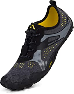 Troadlop Men's Shoes Lightweight Breathable Slip On Barefoot Sneakers Trail Running Hiking, Size 8 M US Black