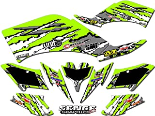Senge Graphics kit compatible with Kawasaki 2004-2009 KFX 700, Shredder Green Graphics Kit