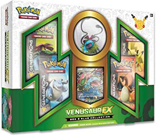 Pokemon TCG: Collection Venusaur-EX Card Game, Red/Blue
